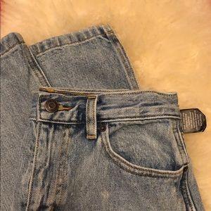 Aritzia (TnA) denim midi / ankle skirt